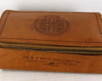 M.A. Hanna Coal & Dock Co. Advertising Zip First Aid Kit Case
