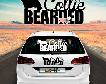 Car Sticker Dog Bearded Collie