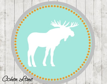 Instant Download Printable Moose Iron On Transfer Design. Moose Iron On.  Moose Shirt.