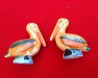 Vintage  Pelican salt and pepper shakers