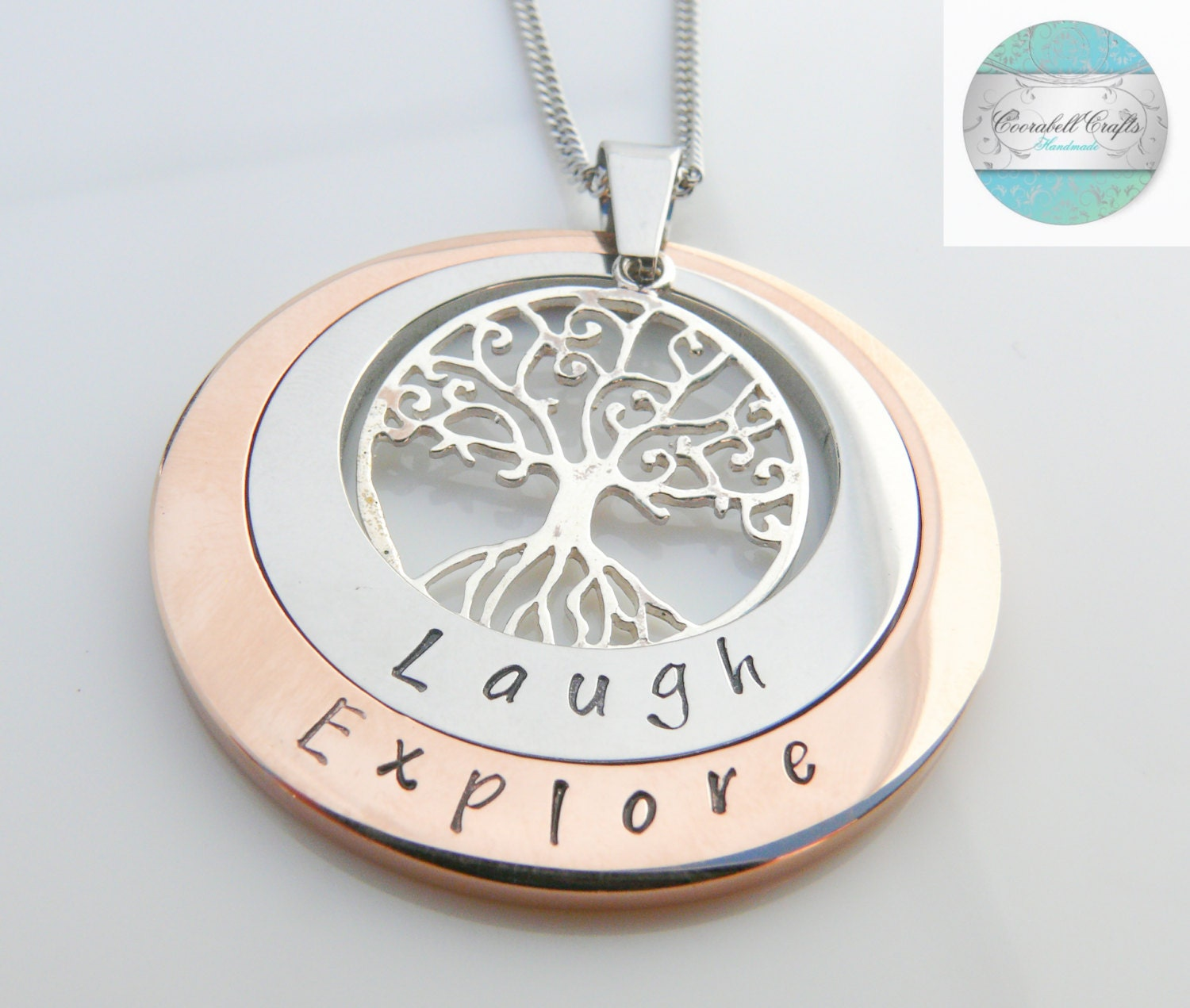 Layered Family Names Tree of Life Pendant Personalised Jewelry