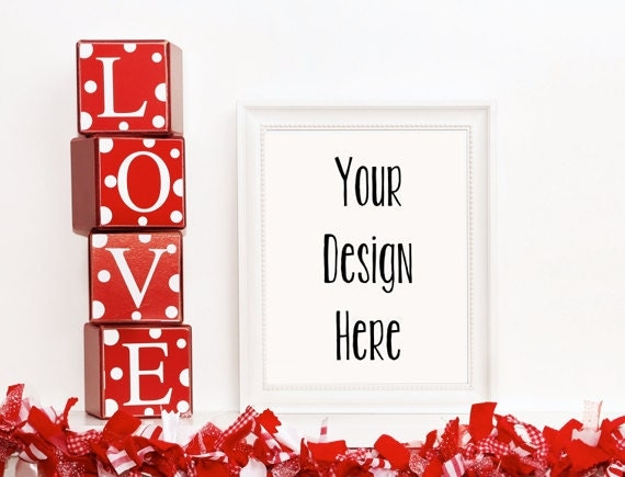 valentines frame mockup white frame mockup valentines picture mockup valentines mock up valentines day mockup wall art display template