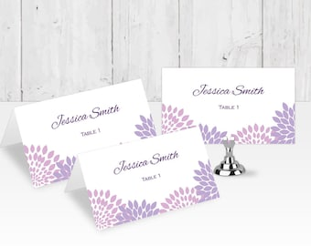 Wedding place card printable, Wedding place card printable templates| placecard template| Editable text| ETPC | T22