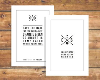 Personalised Save the date postcards