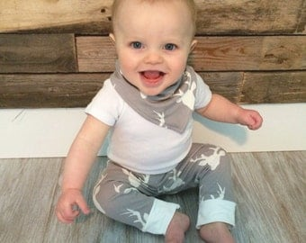 Baby Deer Leggings- Hunting Baby Boy Legging- Hunting Baby Clothes- Baby Hunting Clothes- Hunting Boy Toddler Legging- Baby Deer Outfit