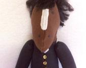 """Hand made TALLY HO! Soft Horse Doll - """"Reggie"""""""