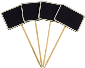 Chalkboard Wood Stakes, Rectangle, 6-inch, 4-Piece