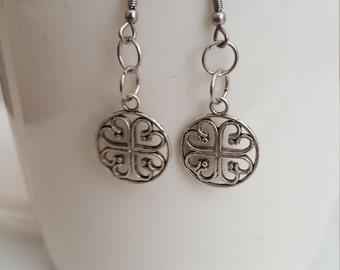 Celtic Earrings- Celtic- Irish- Irish Earrings- Shamrock Earrings- Shamrocks- Irish Shamrock Earrings- Surgical Steel- St Patrick's Day