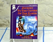 Journey To The Centre of the Earth by Jules Verne Audiobook - 2 Cassette Tapes, Read by Tom Baker - Science Fiction, Fantasy Book on Tape