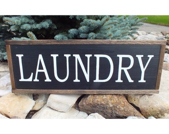 Laundry. Painted wooden sign