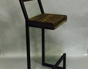 Bar stools Custom 34  with back rest. Metal bar stools. Wood bar stools : custom wood stools - islam-shia.org