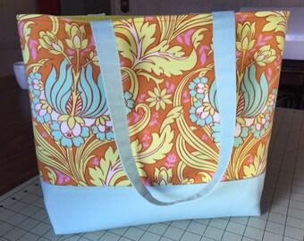 SALE! Lotus tote: small tote bag