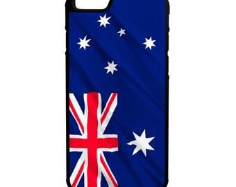 Australia Flag iPhone Galaxy Note LG HTC Hybrid Rubber Protective Case