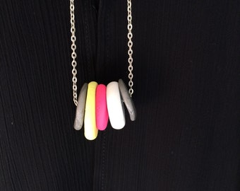 Polymer disk necklace