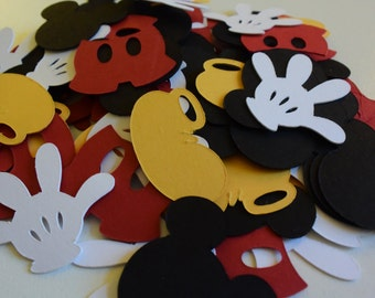 Mickey Mouse Party Confetti, Mickey Mouse Party Decorations, Party Decorations