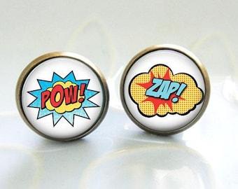 POW ZAP Comix cartoon Earrings