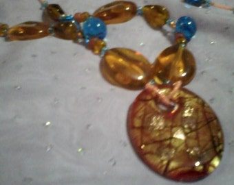 Blueberry and Caramel Delight Necklace