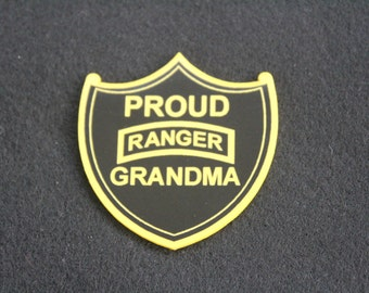 Proud US Army Ranger Grandma Pin