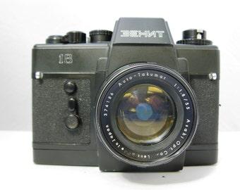 Rare Zenit 18 Soviet 35mm SLR with Pentax 55mm F1.8 Auto-Takumar Lens