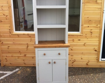 Chunky rustic kitchen dresser painted