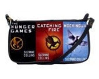 Hunger Games inspired book shoulder bag mockingjay