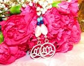 Lotus & Magnifique Perle Lapis Lazuli