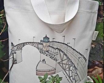 Burnside Bridge neutral color 100% cotton canvas Shoulder Bag