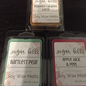 hand poured soy candles scented wax melts by sugarbellecandles. Black Bedroom Furniture Sets. Home Design Ideas