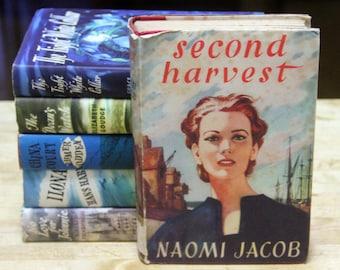 "Naomi Jacob ""Second Harvest"" hard back - a Book club edition 1950s"