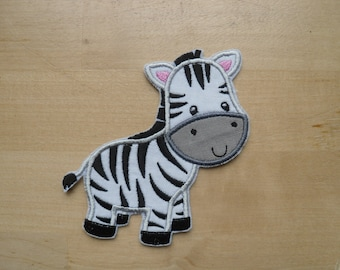 Zebra Iron-On Patch Applique / Ready to Ship