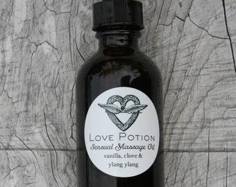 Sensual Massage Oil // With Ylang Ylang // Natural Aphrodisiac // Clove and Vanilla.