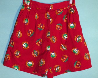 SALE!! EP PRO High Waisted Red Golf Patterned Shorts Vintage 1990s Size 4