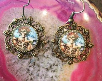 Grateful dead bertha earrings