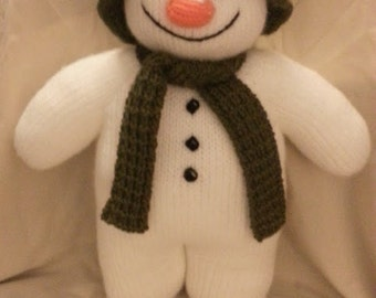 THE SNOWMAN Knitted Soft Toy
