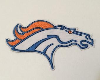 Football Sport Team Logo Broncos Iron On Patch