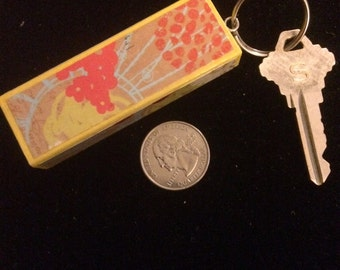 Yellow Floral Keychain