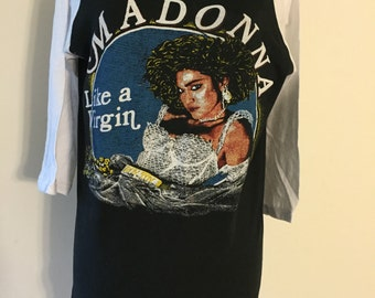 Madonna Like a Virgin Reproduction print T shirt Large