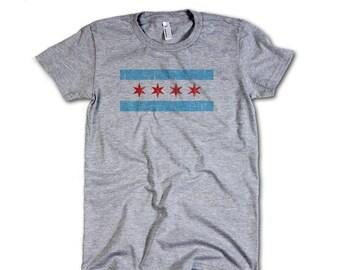 Chicago Vintage Women's Fine Jersey T-Shirt S-2XL Chicago Flag