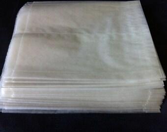 FREE SHIPPING 250 Plain Wet Wax Sandwich Bags 6 x 1 x 7