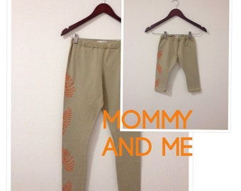 Mommy and Me leggings, Mommy and Baby matching leggings, Mother and Daughter matching outfit, Yoga leggings, Printed leggings, Mommy and me