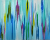 """24""""x36""""x2"""" - """"Reef"""" - Original acrylic abstract painting by Rita Ortloff"""