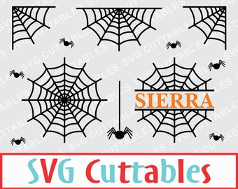 Halloween, Spider Web, Spider, SVG, EPS, DXF, Vector, Digital Cut File