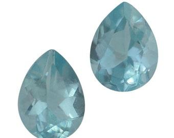Green Apatite Loose Set of 2 Gemstones Pear 6x4mm TGW 0.75 cts.