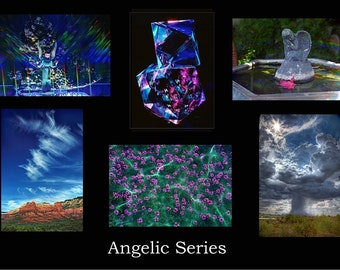 Greeting Cards, ANGELIC and MYSTICAL: Set of 6 Photographic Angelic & Mystical Images, includes envelopes