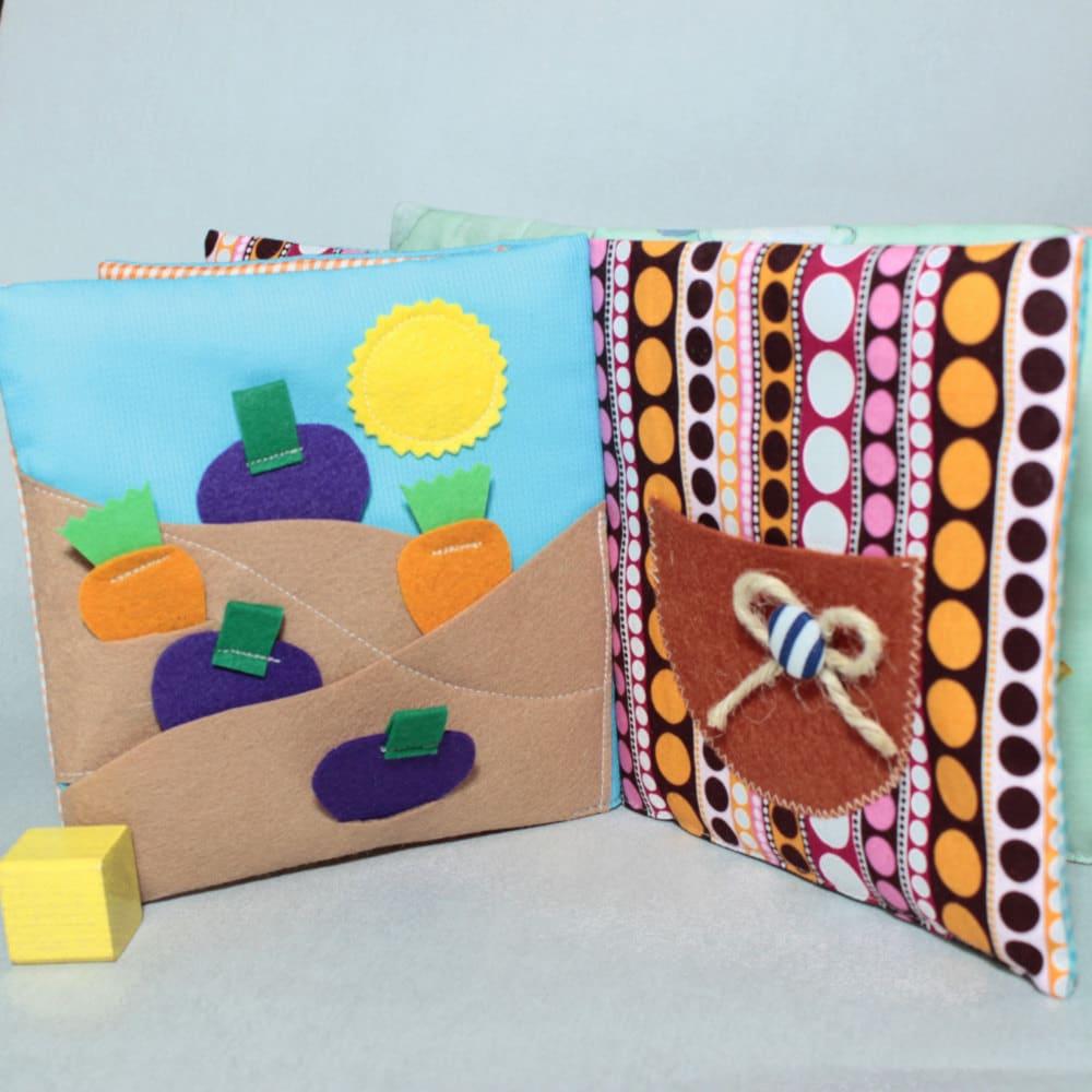 quiet book farm toddler busy books fabric activity book montessori