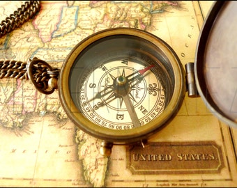 Personalized Compass, Special Gift, Anniversary Gift, Groomsmen, Military School, Boyfriend gift