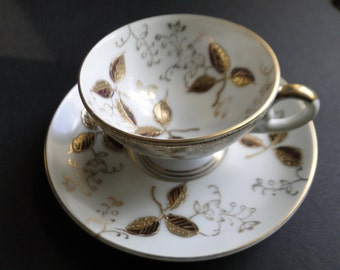 Vintage Demitasse Cup and Saucer made in Japan / Serving Set