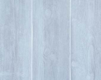 Faux Finish Timber Plank Blue Wallpaper R1883