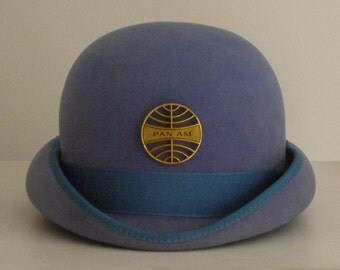 PAN AM  Stewardess, Flight Attendant, Cabin Crew  Uniform  Hat  1970s