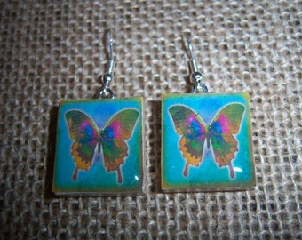 Butterfly Scrabble Tile Earrings